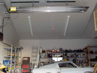 Use of U-Shape Residential Garage Heater
